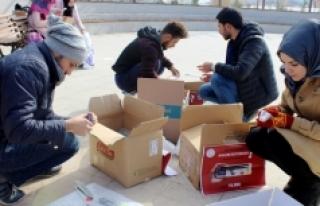 KMÜ Öğrencilerinden Köy Okullarına Anlamlı Destek