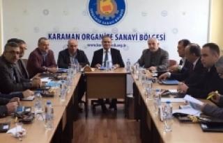 Organize Sanayi Bölgesi Müteşebbis Heyeti Toplandı