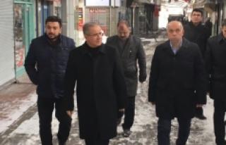 Vali Tapsız Ve Başkan Çalışkan Gazipaşa Bedesteni'nde...