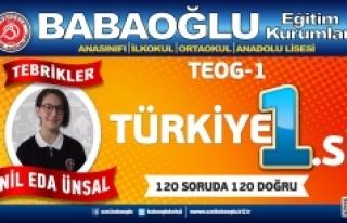 Türkiye Birincisi Babaoğlu Koleji'nden