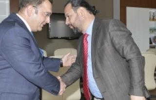 SGK İl Müdüründen Rektör Akgül'e Ziyaret