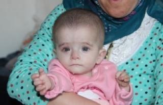 Kanser Hastası 10 Aylık Alime'nin Bakışları...