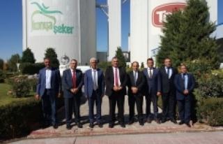 KKTC Tarım Bakanı Nazım Çavuşoğlu Konya Şeker'i...