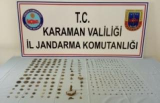 Jandarmanın Durdurduğu Otomobilde Çok Sayıda Tarihi...
