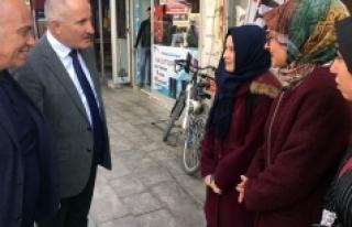 Vali Meral Esnafları Ziyaret Ederek Vatandaşlarla...