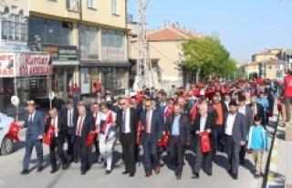 """Karaman'da """"57. Alay Vefa Yürüyüşü""""..."""