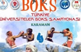 Karaman, Üniversiteler Arası Boks Şampiyonasına...