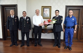 Jandarma Teşkilatı'ndan Vali Meral'a Ziyaret