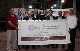 Karaman'da Amatör Spor Kulüplerine 234 Bin Liralık...