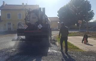 Sudurağı'nda Tren Garı Servis Yolları Asfaltlanıyor