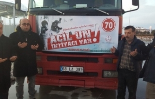 Son Yardım Tırı Türkmen Dağına Dualarla Uğurlandı