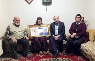 Vali Meral ve Eşinden Şehit Kızılay'ın Ailesine...
