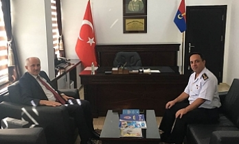 Vali Meral'dan Jandarma Komutanı Şen'e Ziyaret