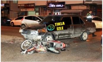 Otomobille Elektrikli Bisiklet Çarpıştı: 3 Yaralı