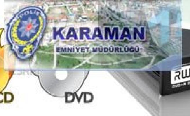 Karaman`da Korsan CD Ve DVD Operasyonu