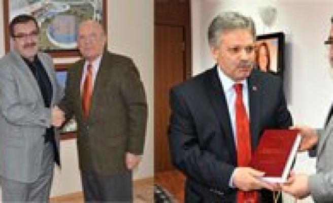 AA Konya Bölge Müdürü Çetin'den Vali Kahraman Ve Baskan Ugurlu'ya Ziyaret