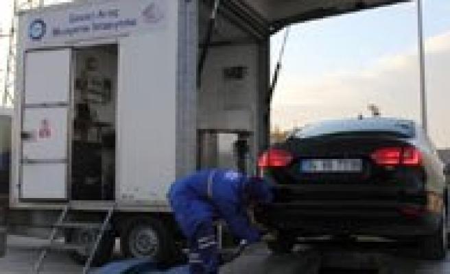 Gezici Araç Muayene Istasyonu Artik Egzoz Gazi Emisyonu Ölçecek