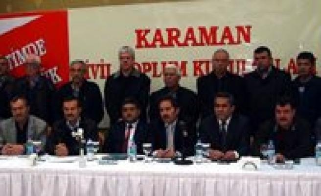 Karaman'da 41 STK`dan Dershane Tepkisi