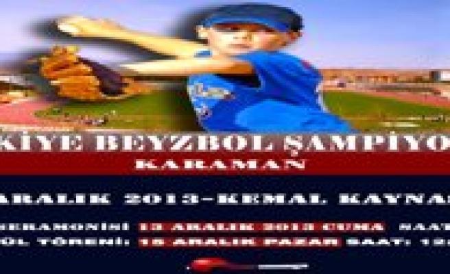 Türkiye Beyzbol Sampiyonasi 13 Aralik'ta Ilimizde