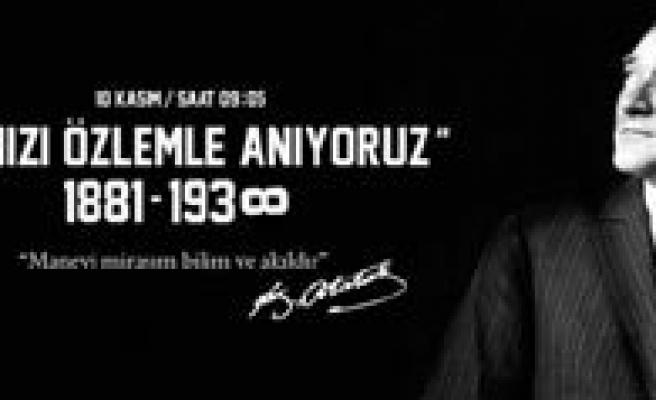 10 Kasim Atatürk'ü Anma Programi Belli Oldu