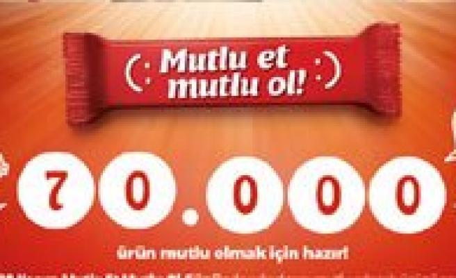 """Ülker 70. Yilini """"Mutlu Et, Mutlu Ol"""" Kampanyasi Ile Karaman`da Kutluyor"""