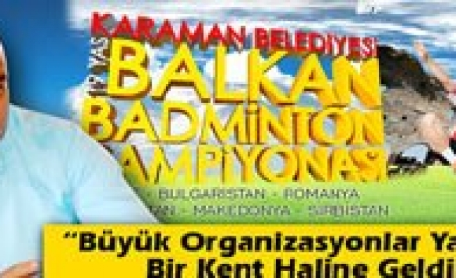 Badminton Türkiye Sampiyonasi Karaman`da