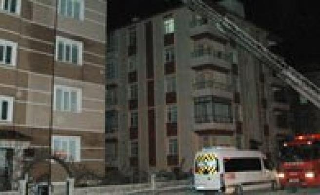 Karaman'da Çati Yangini