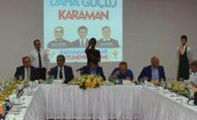 Karaman'da AK Partili Adaylar Basinla Bulustu