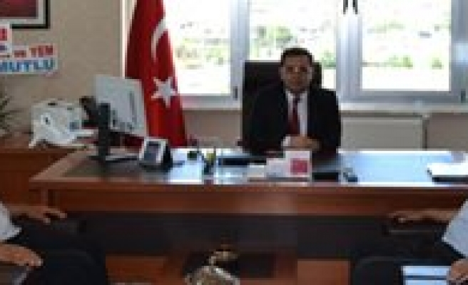 Kâzimkarabekir Belediye Baskani Il Müdürü Findik'i Ziyaret Etti