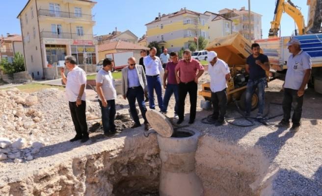 Alparslan Türkeş Bulvarında Hummalı Çalışma