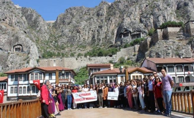Karaman Gençlik Merkezi Üyeleri Amasya'yı Gezdi