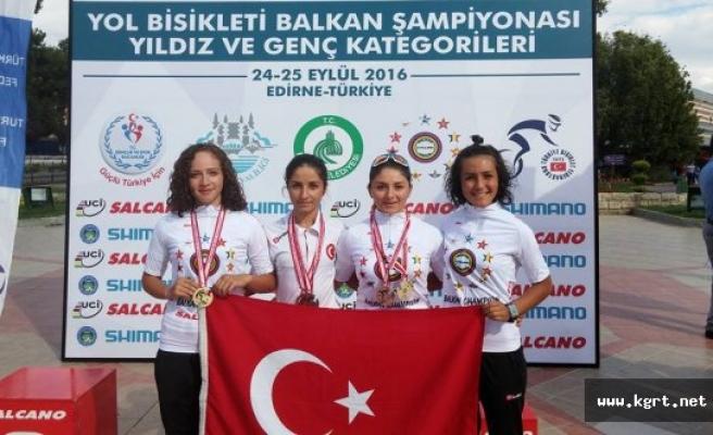 Bisikletin Altın Kızları Balkan Şampiyonu Oldu