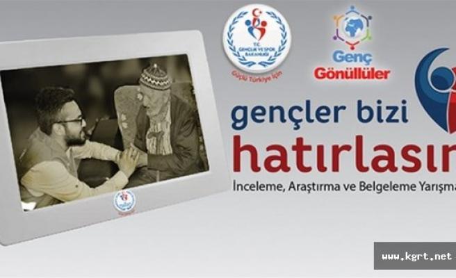 """""""Gençler Bizi Hatırlasın'' Yarışması İçin Son Başvuru Tarihi 1 Ekim"""