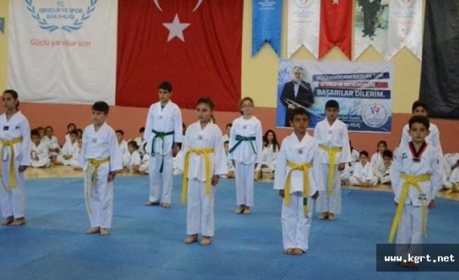 Karaman'da 3. Dönem Taekwondo Kuşak Sınavı Yapıldı