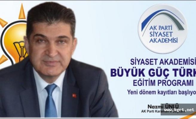 AK Parti Siyaset Akademisi 'Büyük Güç Türkiye' Sloganıyla Yeniden Başlıyor
