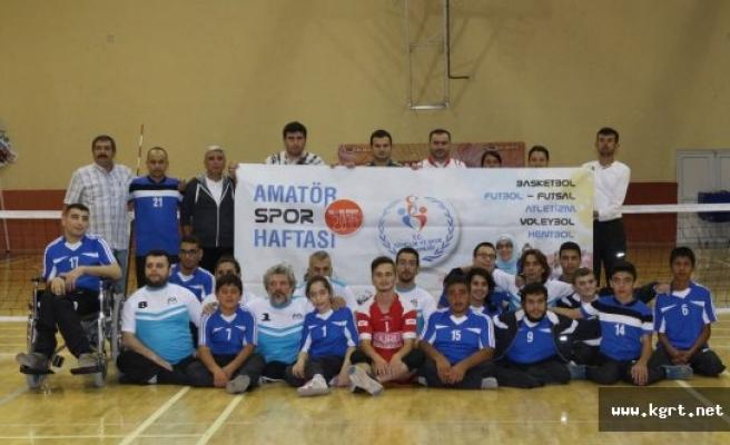 Karaman'da Bedensel Engelli Sporcular Amatör Spor Haftasında Dostluk Maçı Yaptı