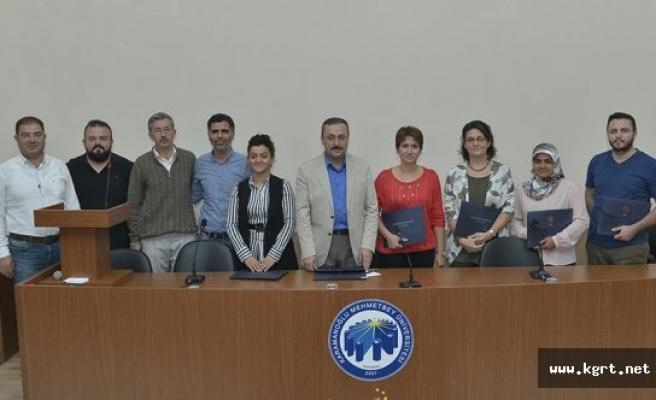 KMÜ Mühendislik Fakültesinde Proje Sahiplerine Teşekkür Belgesi Verildi