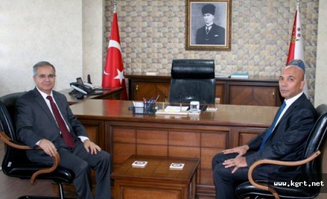 Vali Süleyman Tapsız'dan İl Emniyet Müdürü Mehmet Şahne'ye Ziyaret