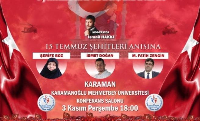 15 Temmuz'un Kahramanları Karaman'da