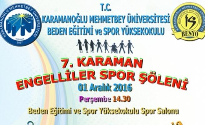 KMÜ'de Karaman Engelliler Spor Şöleninin Yedincisi Düzenlenecek
