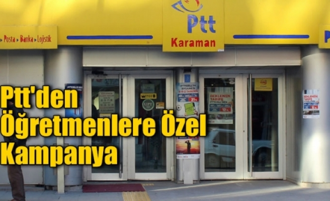 PTT'den Öğretmenlere 24 Kasım Kampanyası