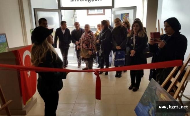 İbrala Kültür Evi'nde Resim Sergisi Açıldı