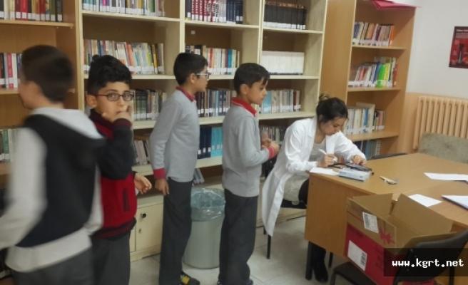 Kazımkarabekir'de 258 Öğrenciye Sağlık Taraması Yapıldı