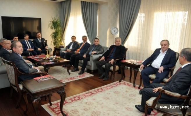 Vali Tapsız Koordinasyon Kurulu Üyeleriyle Bir Araya Geldi