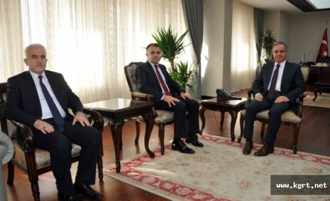 Halef - Selef Milli Eğitim Müdürlerinden Vali Tapsız'a Ziyaret