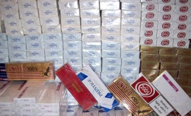 Karaman'da 4 Bin 200 Paket Kaçak Sigara Ele Geçirildi