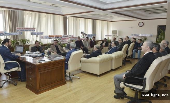 NEÜ'lü Akademisyenler Ve Sadam Üyelerinden KMÜ Rektörü Akgül'e Tebrik Ziyareti