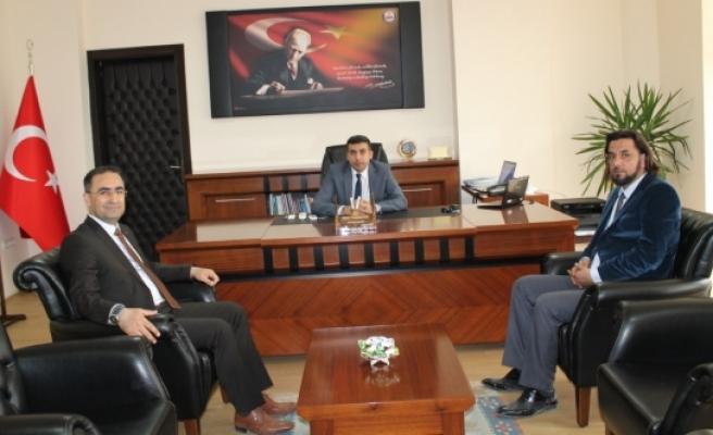 Genel Sekreter Dr. Hasan Arslan Ermenek Kaymakamını Ziyaret Etti