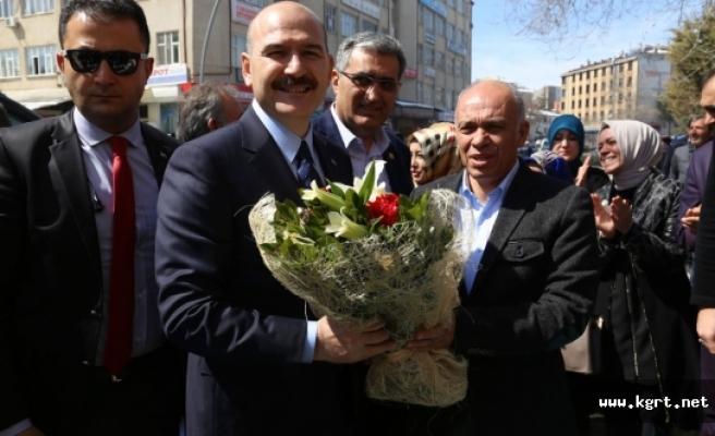 İçişleri Bakanı Soylu Karaman Belediyesi'ni Ziyaret Etti