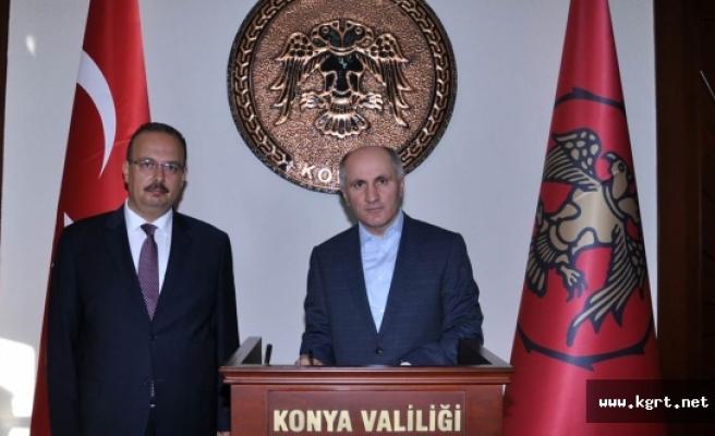 Vali Meral Konya Valisi Canbolat'ı Ziyaret Etti